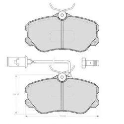 "Set of 4 front brake pads ""GIRLING""Alfa Romeo 164 2.0/2.0 Twin Spark (06/1987 - 06/1998)"