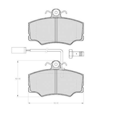 "Set of 4 front brake pads ""GIRLING""- Alfa Romeo 33"