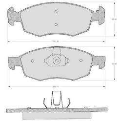 "Set of 4 front brake pads ""ATE""- Fiat Doblo - Punto"
