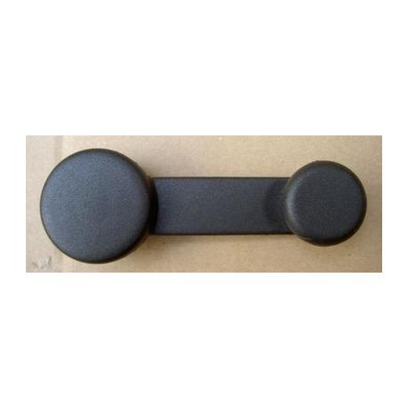 Manivelle lève vitre en plastique noir - 126 FSM , Ritmo , Nuova Cinquecento