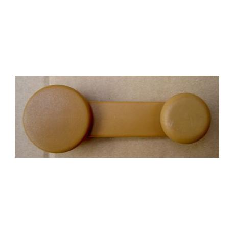 Manivelle lève vitre en plastique marron - 126 FSM , Ritmo , Nuova Cinquecento