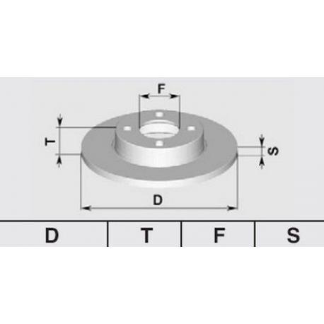Pair of brake discs Rear147/156/164