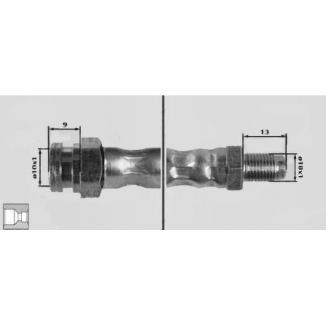 Brake hose frontt [ mm ] 565Kappa