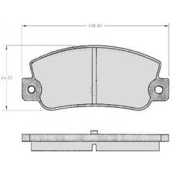 "Set of 4 rear brake pads ""BENDIX"" - Fiat Croma / Lancia Delta"