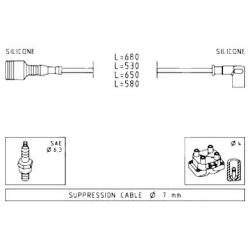 Ignition cable setAlfa 145/146