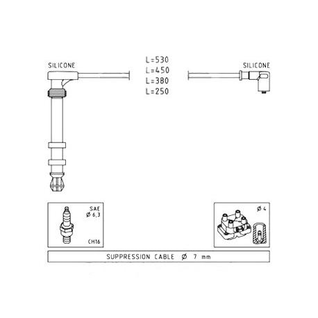 Ignition cable setFiat/Lancia