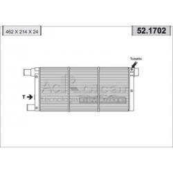 Radiateur d'eau moteur - Fiat Cinquecento / Panda / Seicento