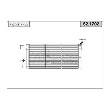 Engine cooling radiator - Fiat Cinquecento / Panda / Seicento
