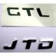 """Monogramme arrière """"HGT""""Doblo/Idea/Panda/Punto/Stilo"""