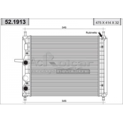 Engine cooling radiatorFiat Brava/Bravo/Marea/Multipla