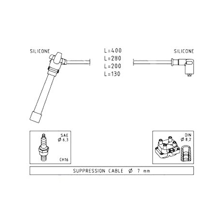 Ignition cable setPunto 1.2 16V