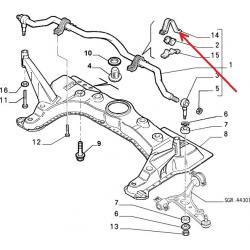 Front stabilizer bushing support - Alfa Romeo / Fiat / Lancia