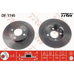 Pair of brake discs Rear - Alfa roméo / Fiat / Lancia