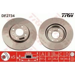 Front brake discs - Alfa roméo / Fiat / Lancia