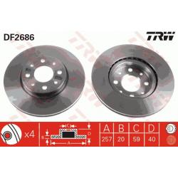 Front brake discs - Alfa roméo / Fiat