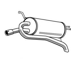 Exhaust backFiat Palio