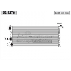 Engine cooling radiator - Fiat Panda
