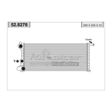 Engine cooling radiator - Fiat Panda / Autobianchi Y10