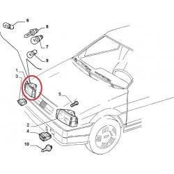"""Right headlight """" elma """" - Fiat Tipo (1987 -- 1993)"""