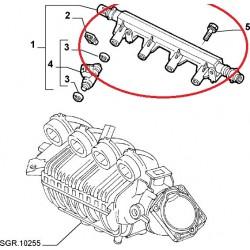 Fuel injector rail - Fiat / Lancia (engine 1,8 16V)