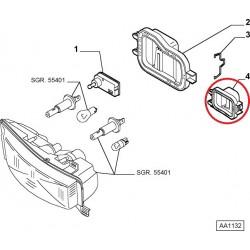 Headlight right cap - Fiat Stilo