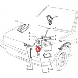Battery mount - Fiat Uno