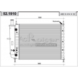 Radiateur d'eau moteurFiat Brava/Bravo/Marea/Palio