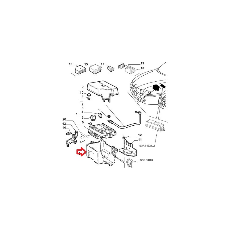 Connectors and wires protection - Alfa Romeo 147 / 156 / GT (V6 Engine) on