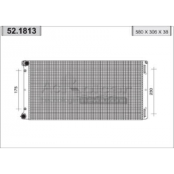Engine cooling radiator - Fiat Punto II 1,8 i 16V / 1,9 JTD