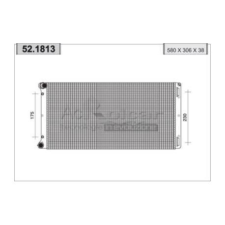 Radiateur d'eau moteur - Fiat Punto II 1,8 i 16V / 1,9 JTD