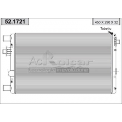 Radiateur d'eau moteur - Fiat Seicento 1100 i 8V MPI 09/2000-