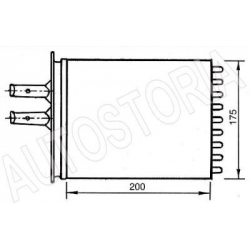 Heater radiatorFiat Barchetta/Punto