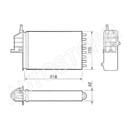 Heater radiator - Fiat Seicento