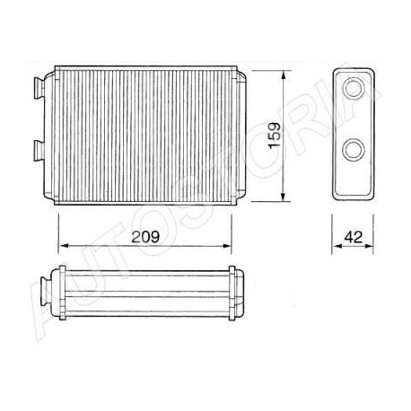 Heater radiatorFiat Doblo/Idea/Punto