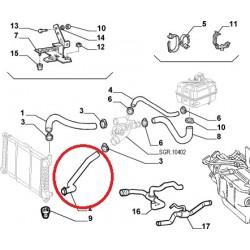 Upper radiator hose - Alfa Romeo 166 2,5 V6 24V / 3,0 V6 24V
