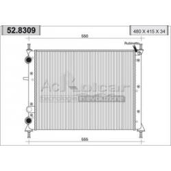Radiateur d'eau moteur - Fiat Multipla 1.6 i / 16V