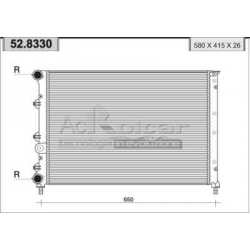 Engine cooling radiator147