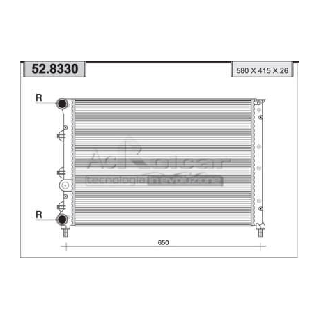 Radiateur d'eau moteur147
