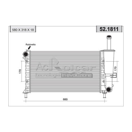 Engine cooling radiator - Fiat Punto II 60 / 80