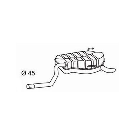 Exhaust backFiat Punto II