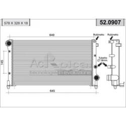 Radiateur d'eau moteur - Nouvelle Fiat Panda 1,1 / 1,2