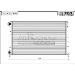 Radiateur d'eau moteur - Fiat Doblo 1.6 i 16V / Natural Power