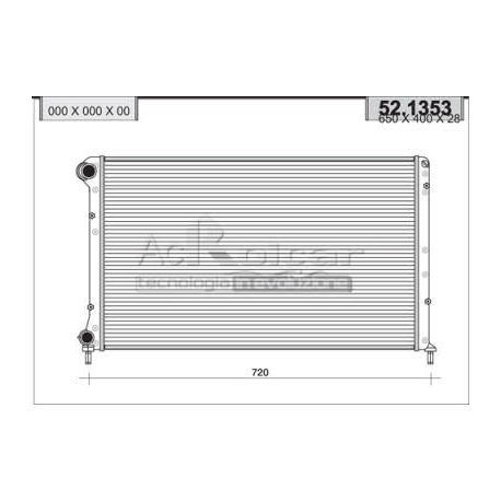 Engine cooling radiator - Fiat Doblo 1.6 i 16V / Natural Power
