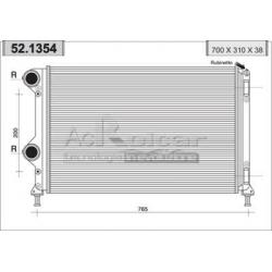 Radiateur d'eau moteur - Fiat Doblo 1.3 Multijet 16V / 1.9 JTD