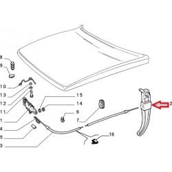 Bonnet handle - Autobianchi Lancia Y10
