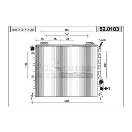 Engine cooling radiatorAlfa Romeo 75/90/164