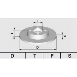 Pair of brake discs Rear75/90/GTV