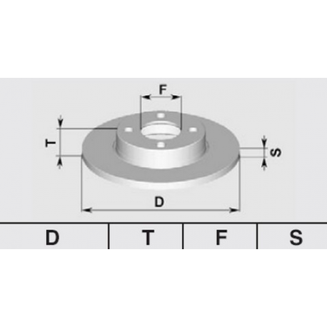 Pair of brake discs Rear33/145/146/155