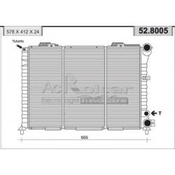 Radiateur d'eau moteurAlfa Romeo 164 (11/1992 - )