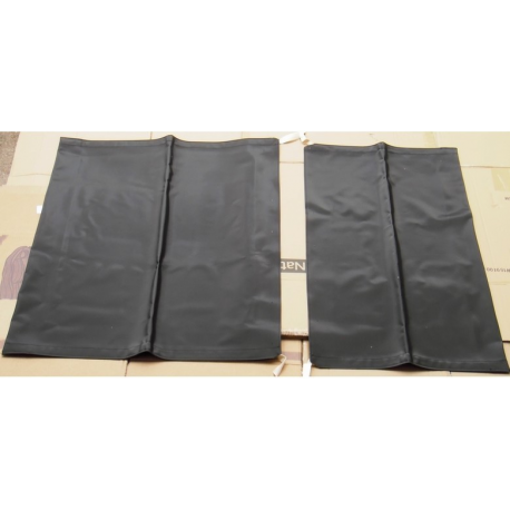 Set of two black front and rear hoods - Fiat Panda all